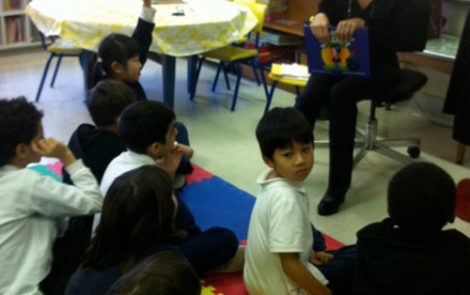 """The Black Velvet Jacket"" Reading & Book Signing at Parkdale Elementary School - English Montreal School Board"