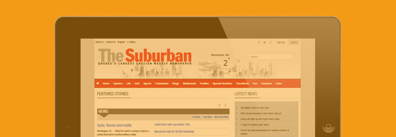 The Suburban Newspaper goes online DAILY!