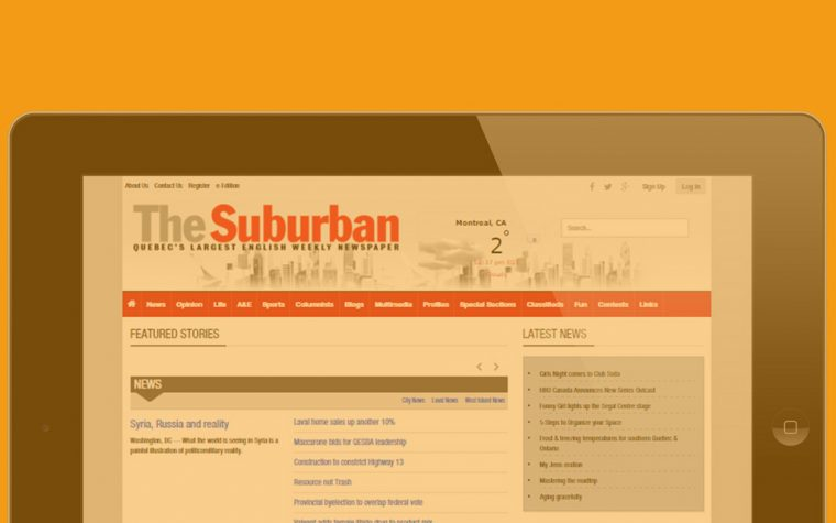 The suburban Newspaper Online in Ipad