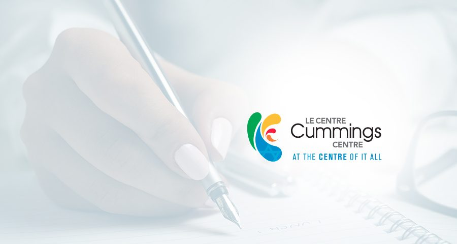 Teaching Spring & Summer 2017 at The Cummings Centre – Le Centre Cummings – Write About it