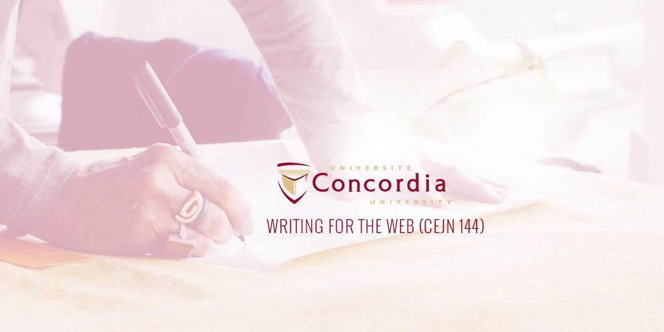 Teaching at Concordia University Spring Semester
